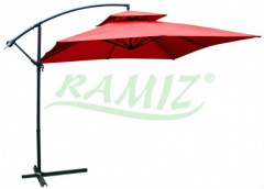 Garden Umbrella square Dark Red