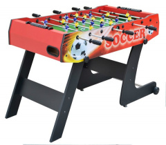 Football table 121x61x81 Folding Red