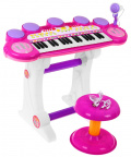 Keyboard USB MP3 snare drums 3 octave Pink