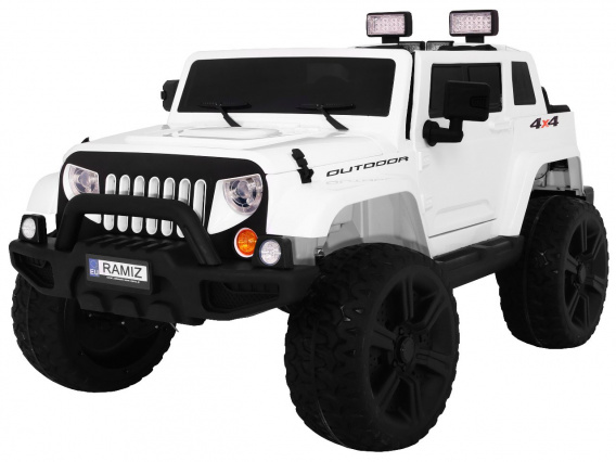 Mighty Jeep 4x4 White