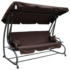Garden swing Adjustable Seat Textylina 2 x 1 dark brown