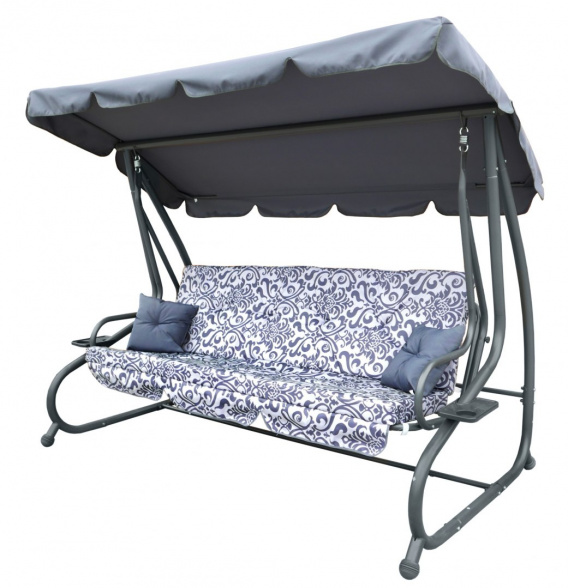 Garden Swing Seat Textylina 2 x 1 Grey PATTERN