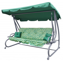 Garden Swing Seat Textylina 2 x 1 PATTERN Green