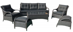 Set Big Furniture Aluminum Dark Brown