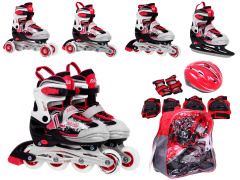 Rollerskate Set 4 in 1 30-33 Red