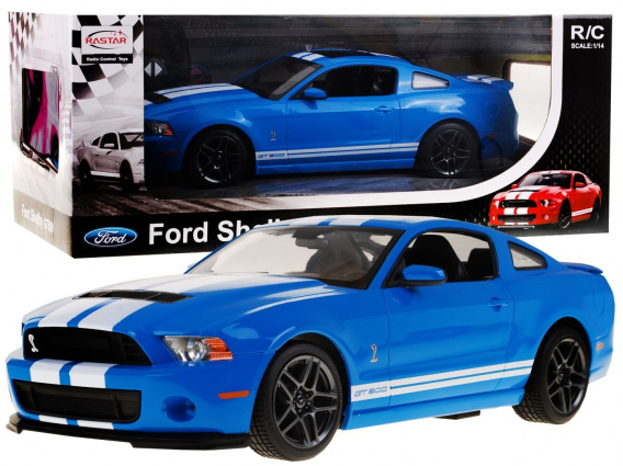 R/C toy car Ford Shelby Mustang GT500 Blue 1:14 RASTAR