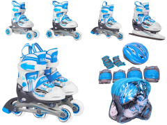 Rollerskate set 4 in 1 27-30 blue