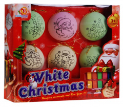 Baubles to paint for the Christmas tree