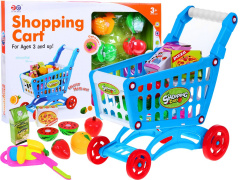 Stroller Shopping Cart Set Fruit For Slicing Blue