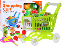 Stroller Shopping Cart Set Fruit For Slicing Green