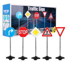 Road signs 80 cm, 5 Pcs.