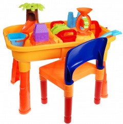 Sandbox, desk with chair