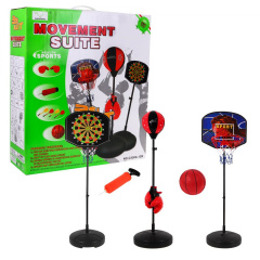Set of 3 in 1 boxing, Darts, basketball