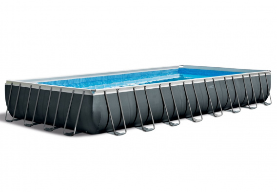 "Rectangular frame pool - 32Ft x 16Ft x 52 ""/ 975 x 488 x 132 cm, with salt water system, volleyball structure and cleaning kit"