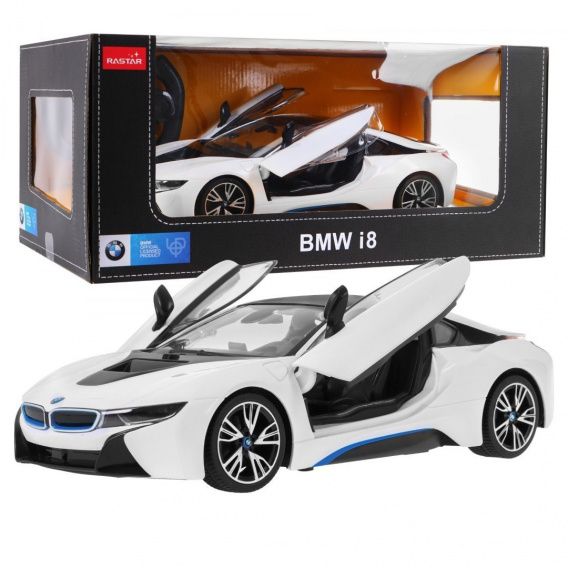 R/C toy car the BMW i8 White 1:14 RASTAR