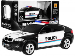 1:24 R/C Licensed police car Bmw X 6 Police Black