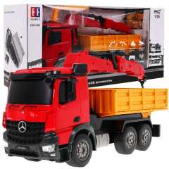 Car R / C Mercedes-Benz Arocs 2.4G HDS crane Double E