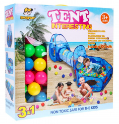 Tent with balls