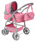Dolls pram (gondola, stroller + bag) with rotating wheels