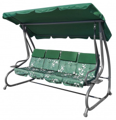 Huge Garden Swing Seat Braid 2x1 Green Butterflies