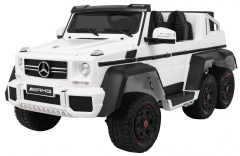 Vehicle Mercedes G63 6 x 6 White
