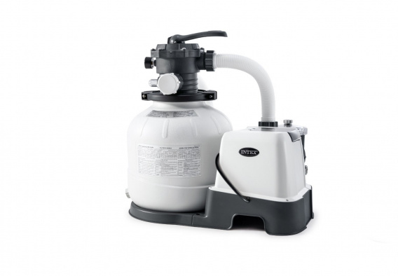 Sand filter pump with Krysta CLEAR salt water system