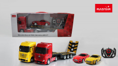 Mercedes Benz Actros R/C car with Semitrailer 1:26 Mercedes Benz AMG GT 1:24 RASTAR