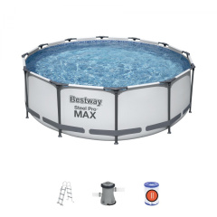 Swimming pool Ceilings 12 ft 366x100 cm SteelPRO 4 in 1 BESTWAY