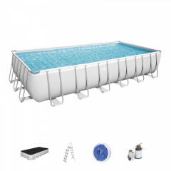 Rack swimming pool 24FT 732x366x132 cm POWERSteel 6w1 BESTWAY